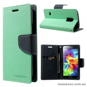 Korean Mercury Fancy Dairy Wallet Case for Samsung Galaxy J1 Ace Mint
