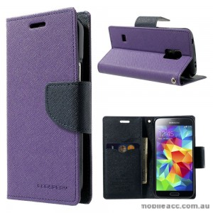 Korean Mercury Fancy Dairy Wallet Case for Samsung Galaxy J1 Ace Purple