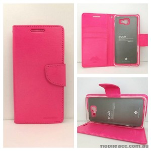 Mercury Goospery Bravo Diary Wallet Case For Samsung Galaxy J5 Prime - Hot Pink
