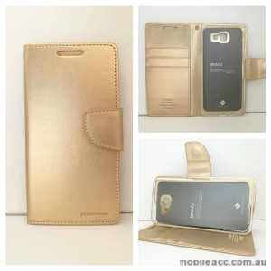 Mercury Goospery Bravo Diary Wallet Case For Samsung Galaxy J5 Prime - Gold