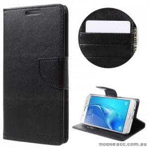Mercury Goospery Bravo Diary Wallet Case For Samsung Galaxy J7 Prime - Black