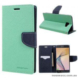 Mercury Goospery Fancy Diary Wallet Case For Samsung Galaxy J7 Prime - Mint