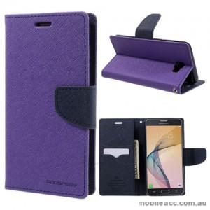Mercury Goospery Fancy Diary Wallet Case For Samsung Galaxy J7 Prime - Purple