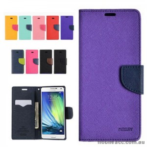 Korean Mercury Wallet Case for Galaxy J1 2016 - Hot Pink