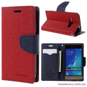 Korean Mercury Wallet Case for Galaxy J1 2016 - Red