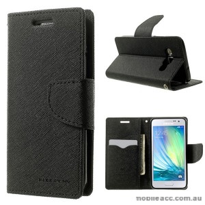 Korean Mercury Fancy Dairy Wallet Case For Samsung Galaxy J2 - Black