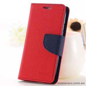 Korean Mercury Fancy Dairy Wallet Case For Samsung Galaxy J2 - Red