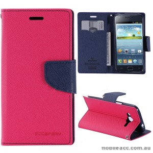 Korean Mercury Fancy Dairy Wallet Case For Samsung Galaxy J2 - Hot Pink