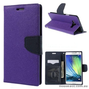 Wisecase Wallet Case for Samsung Galaxy A7 Purple