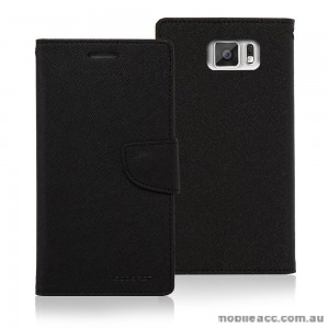 Korean Mercury Fancy Dairy Wallet Case for Samsung Galaxy A7 Black