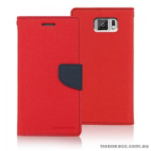 Korean Mercury Fancy Dairy Wallet Case for Samsung Galaxy A7 Red
