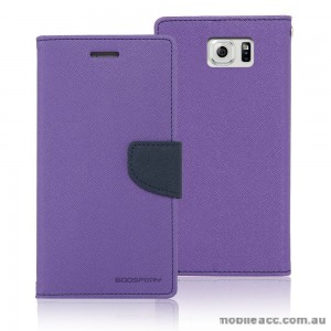 Korean Mercury Fancy Dairy Wallet Case for Samsung Galaxy A7 Purple