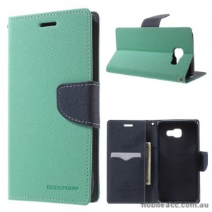 Mercury Goospery Fancy Diary Wallet Case For Samsung Galaxy A3 2017 Mint