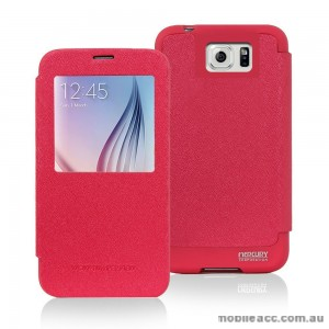Korean Mercury WOW View Cover for Samsung Galaxy Note 5 Hot Pink