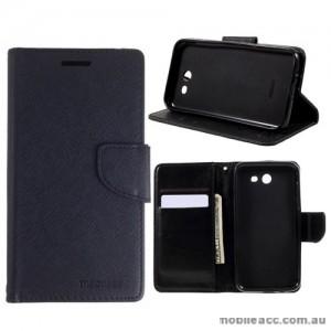 Mooncase Stand Wallet Case For Samsung Galaxy J3 Prime Black