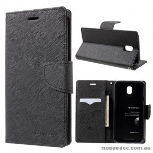 Korean Mercury Fancy Diary Wallet Case For Samsung Galaxy J7 Pro - Black