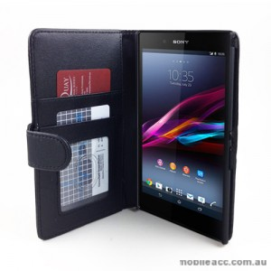 Synthetic Leather Wallet Case for Sony Xperia Z Ultra - Black