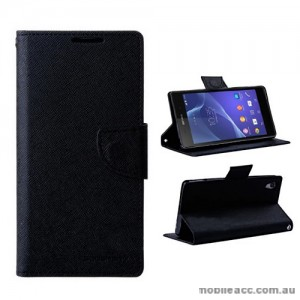 Mercury Goospery Fancy Diary Wallet Case for Sony Xperia Z2 - Black