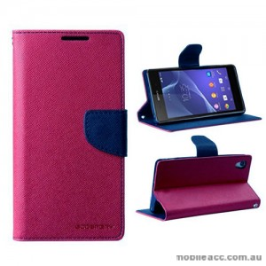 Mercury Goospery Fancy Diary Wallet Case for Sony Xperia Z2 - Hot Pink