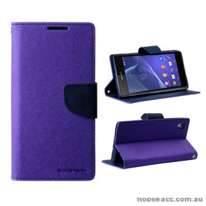 Mercury Goospery Fancy Diary Wallet Case for Sony Xperia Z2 - Purple