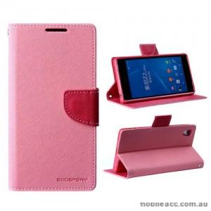 Mercury Goospery Fancy Diary Wallet Case for Sony Xperia Z2 - Baby Pink