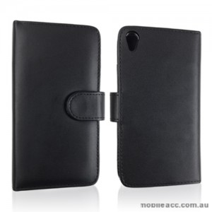 Synthetic Leather Wallet Case for Sony Xperia Z3 - Black