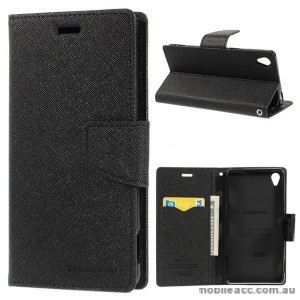 Korean Mercury Fancy Diary Wallet Case for Sony Xperia Z3 - Black