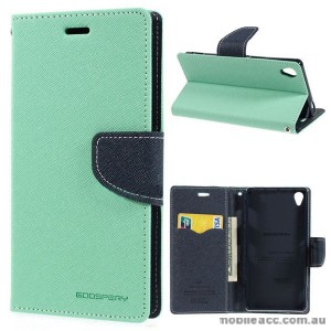 Korean Mercury Fancy Diary Wallet Case for Sony Xperia Z3 - Green