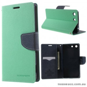 Korean Mercury Fancy Diary Wallet Case for Sony Xperia M5 Mint Green