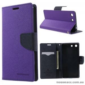 Korean Mercury Fancy Diary Wallet Case for Sony Xperia M5 Purple