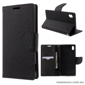 Korean Mercury Fancy Diary Wallet Case for Sony Xperia Z5 Compact Black