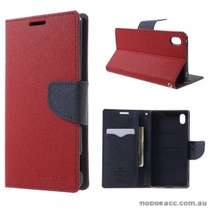 Korean Mercury Fancy Diary Wallet Case for Sony Xperia Z5 Compact Red