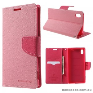 Korean Mercury Fancy Diary Wallet Case for Sony Xperia Z5 Compact Pink