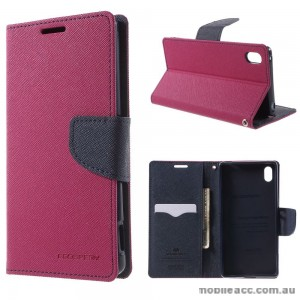 Korean Mercury Fancy Diary Wallet Case for Sony Xperia Z5 Compact Hot Pink