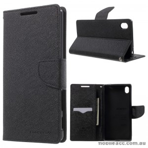 Korean Mercury Fancy Diary Wallet Case For Sony Xperia Z5 Premium Black