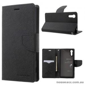 Mercury Goospery Fancy Diary Wallet Case For Sony Xperia XZ - Black
