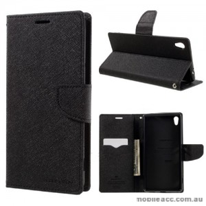 Mooncase Stand Wallet Case For Sony Xperia XA Ultra Black