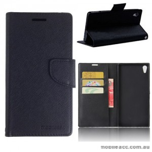 Mooncase Stand Wallet Case For Sony Xperia XA1 Ultra Black