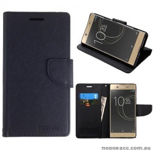 Mooncase Stand Wallet Case For Sony Xperia XZ Premium - Black