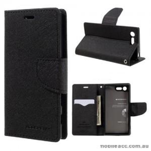 Korean Mercury Fancy Diary Wallet Case For Sony Xperia XZ1 - Black