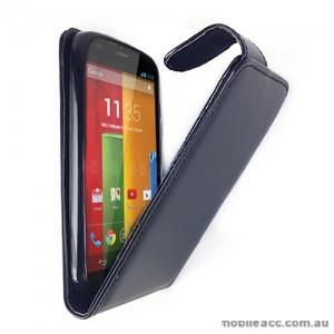 Synthetic Leather Flip Case Cover for Motorola Moto G - Black