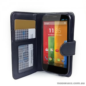 Synthetic Leather Wallet Case Cover for Motorola Moto G
