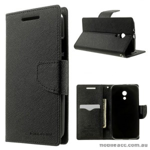 Korean Mercury Fancy Diary Wallet Case for Motorola Moto G2 - Black
