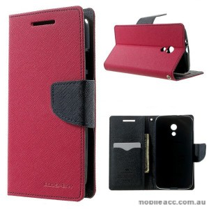 Korean Mercury Fancy Diary Wallet Case for Motorola Moto G2 - Hot Pink