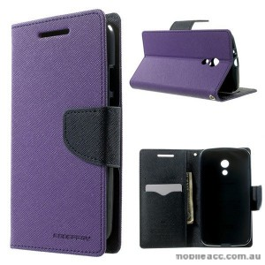 Korean Mercury Fancy Diary Wallet Case for Motorola Moto G2 - Purple