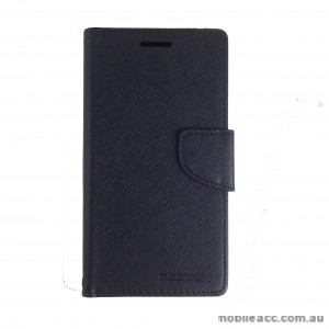 Mooncase Stand Wallet Case for Motorola Moto X play Black