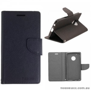 Mooncase Stand Wallet Case For Motorola Moto G5 Plus Black