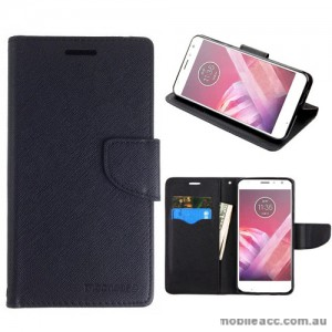 Mooncase Stand Wallet Case For Motorola Moto X4 - Black