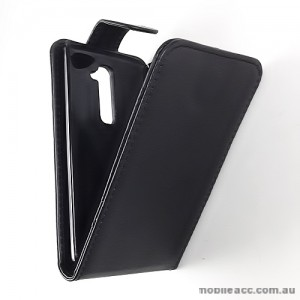 Synthetic Leather Flip Case for LG G2 D802 - Black