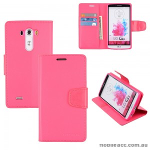 Korean Mercury Sonata Wallet Case for LG G3 - Hot Pink